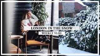 IT SNOWED IN LONDON! ❄️ WEEKLY VLOG | Copper Garden