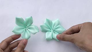 How To Make Flowers Out Of Ribbon | Realistic and Super Easy