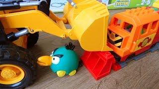 Машинки игрушки. Про поезда мультики Город машинок 269: Экскаватор. Мультики для детей про Машинки