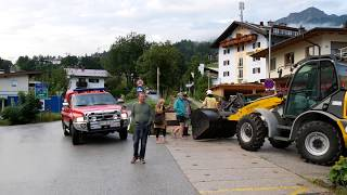 Wateroverlast na onweersbui St. Johann in Tirol