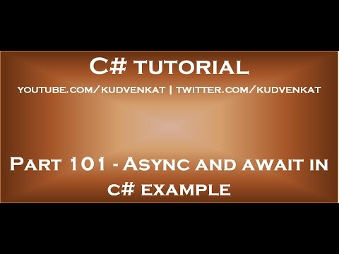 Async and await in C# example