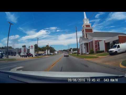 Small Town Deep South - Driving through Dublin, Georgia, USA