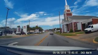 Small Town Deep South - Driving Through Dublin, Georgia, Usa