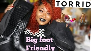 FINALLY SOME SHOES FOR MY BIG WIDE FEET| PLUS SIZE WIDE CALF BOOTS & WIDE WIDTH BOOTIES | ft. TORRID