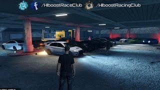 Grand Theft Auto V Online (XB1)   Street Car Stance Meet   Road Trip, House Party & More