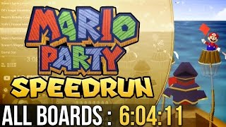 Mario Party All Boards Speedrun (Easy) in 6:04:11