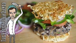 How To Make Vegan Ramen Burgers | Collab W/ Fastgoodcuisine & Flavorheist | Thevegetarianbaker