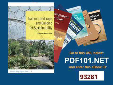 Nature, Landscape, and Building for Sustainability A Harvard Design Magazine Reader