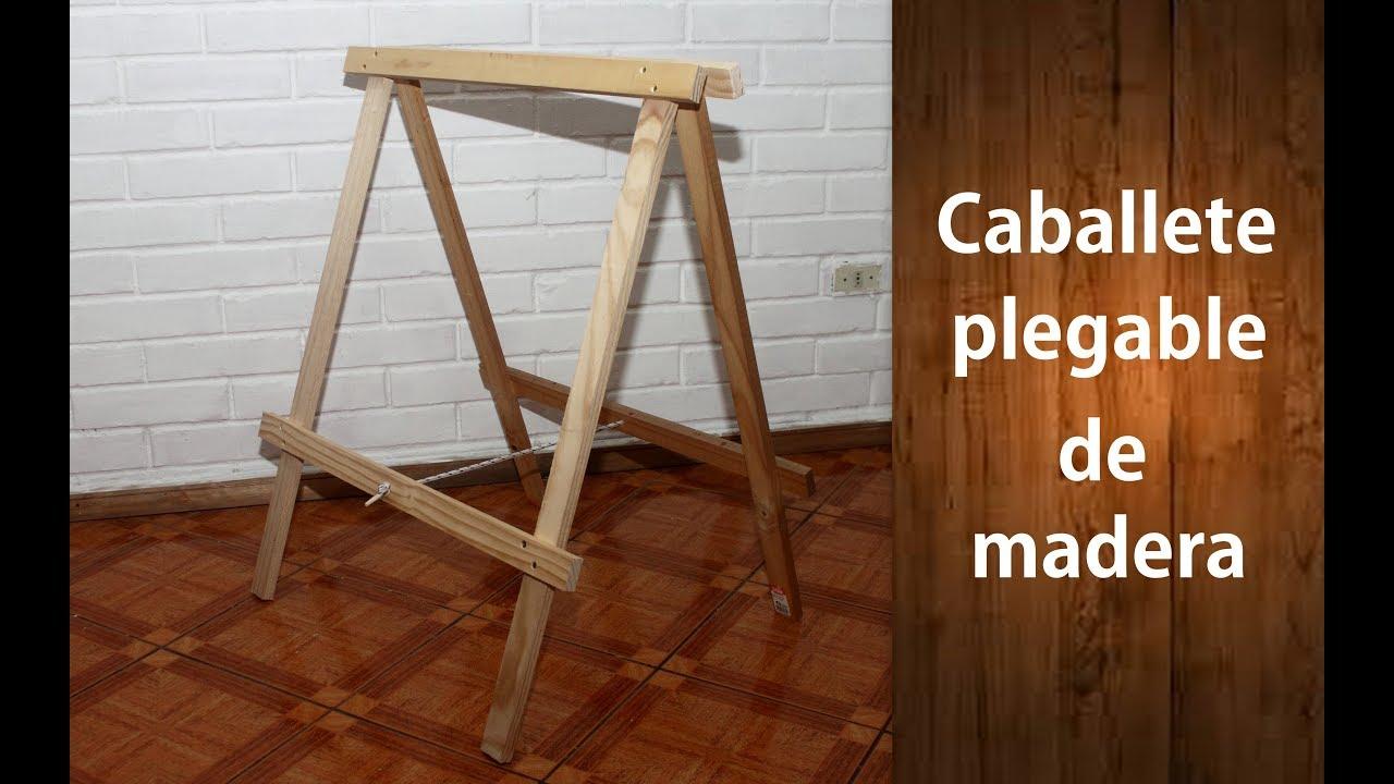 C mo hacer caballetes plegables de madera f cil youtube - Como hacer un altillo de madera ...
