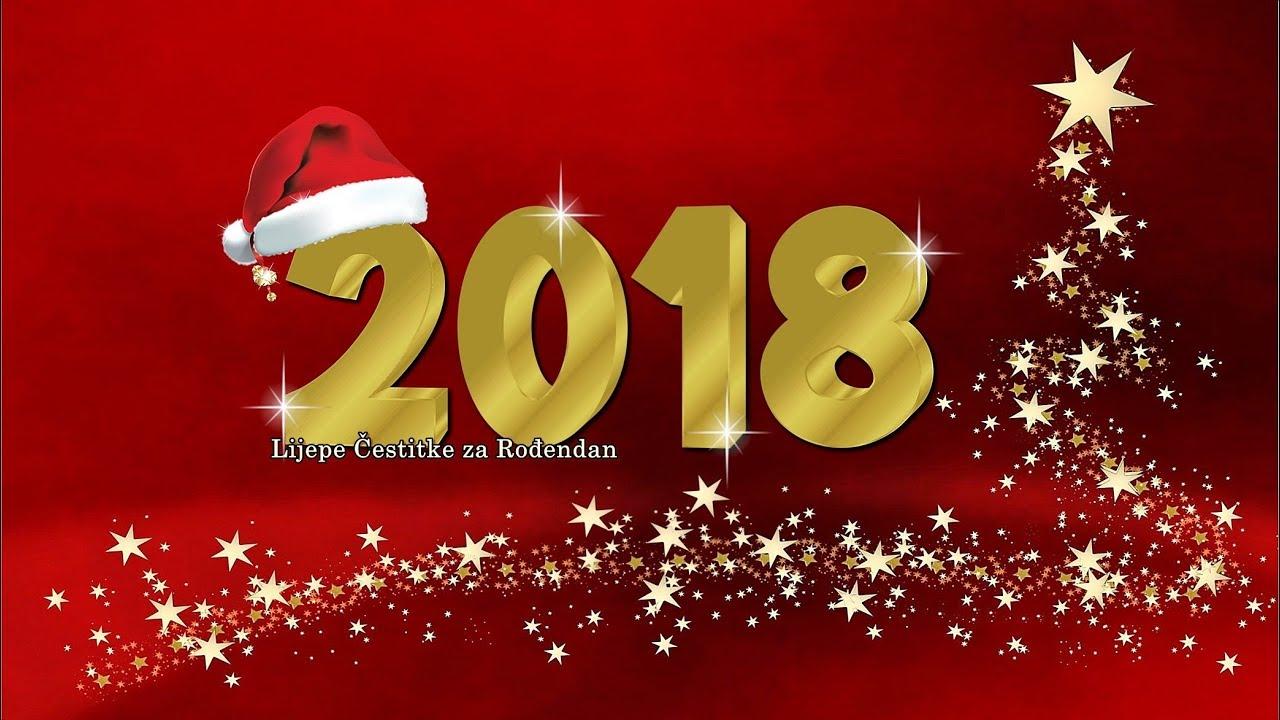 najljepše novogodišnje čestitke Sretna Nova 2018. Godina   YouTube najljepše novogodišnje čestitke