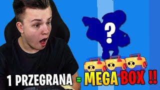 PRZEGRYWASZ = MEGA BOX !! CHALLENGE BRAWL STARS Z JACOB EM !!