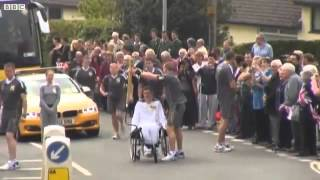 Olympic Torch blows out on the third day of the torch relay at Devon