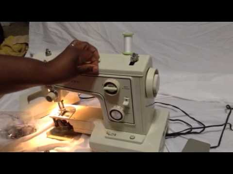 How To Wind Bobbin On Sears Kenmore Sewing Machine 40 4040 Simple How To Thread A Sears Kenmore Sewing Machine Model 2142