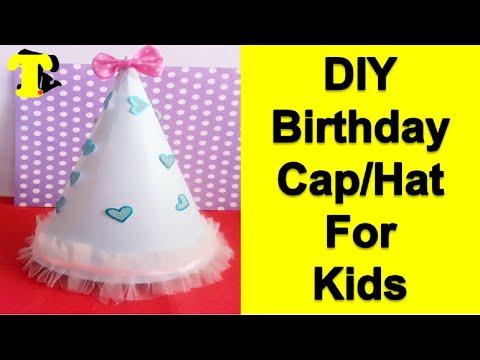 How to make Birthday Cap / Party Hat for Kids || TukkuTV