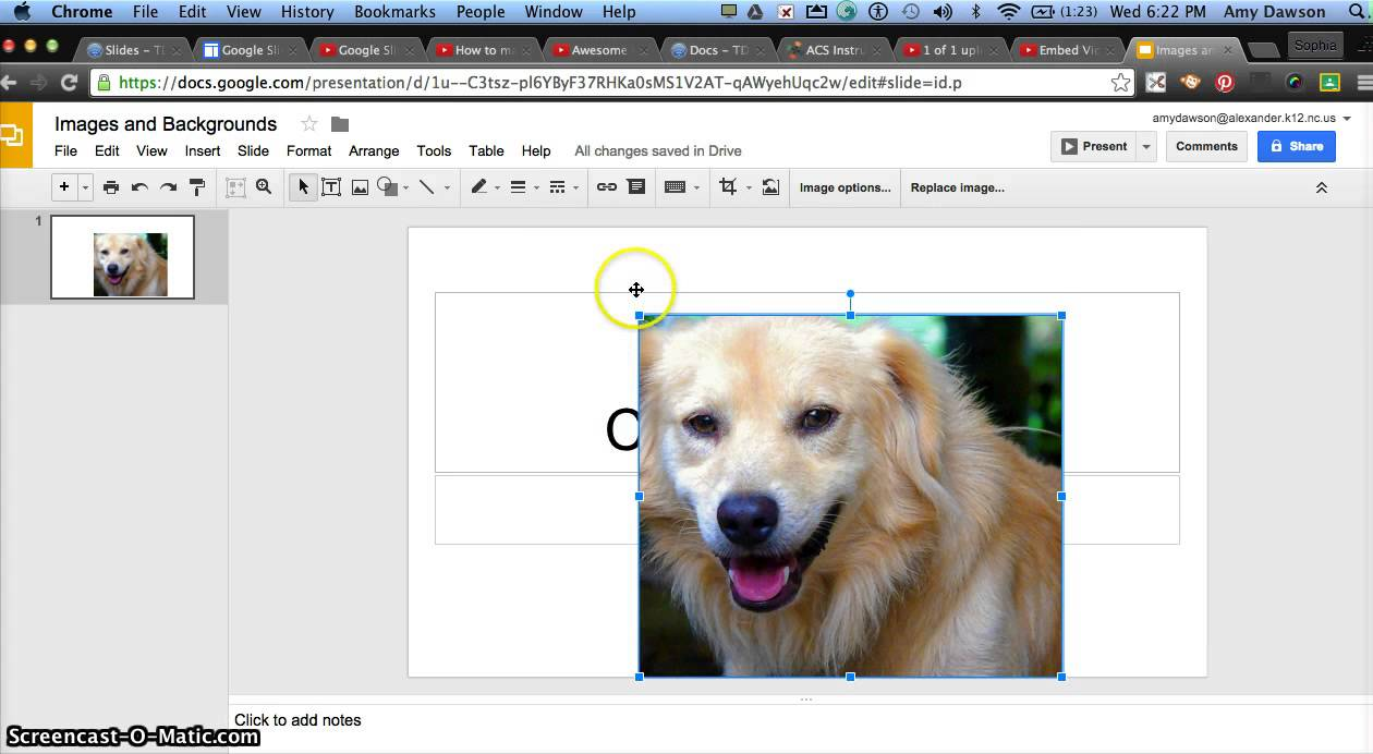 Background image google slides - Images And Backgrounds In Google Slides