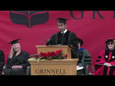 Kumail Nanjiani '01, 2017 Grinnell College Commencement Address