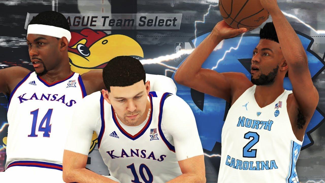 NBA 2K18 - NCAA 2K18 College Roster Gameplay North Carolina vs. Kansas b3930d84d