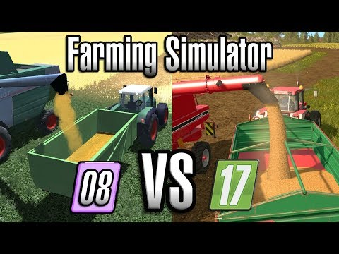 FARMING SIMULATOR 2008 vs 2017