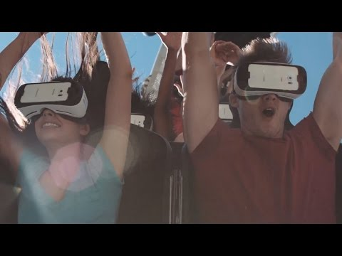 "La Ronde ""The New Revolution"" Six Flags Virtual Reality Roller Coaster NEW FOR 2016 Samsung Canada"