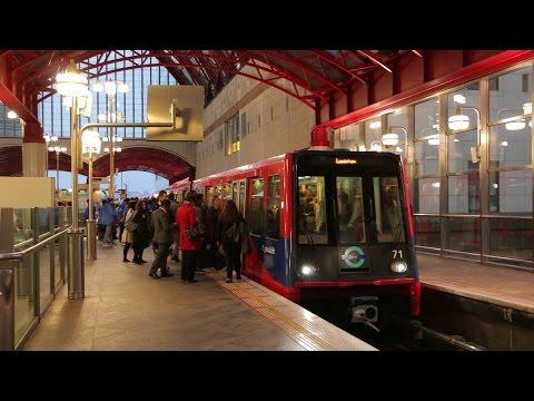 Docklands Light Railway at Canary Wharf