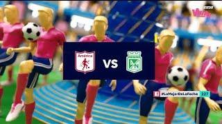 América vs. Nacional (Goles y Highlights) Liga Aguila 2019-2 Fecha 18