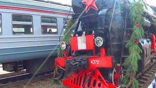 Старый военный паровоз - Видео про поезда для детей