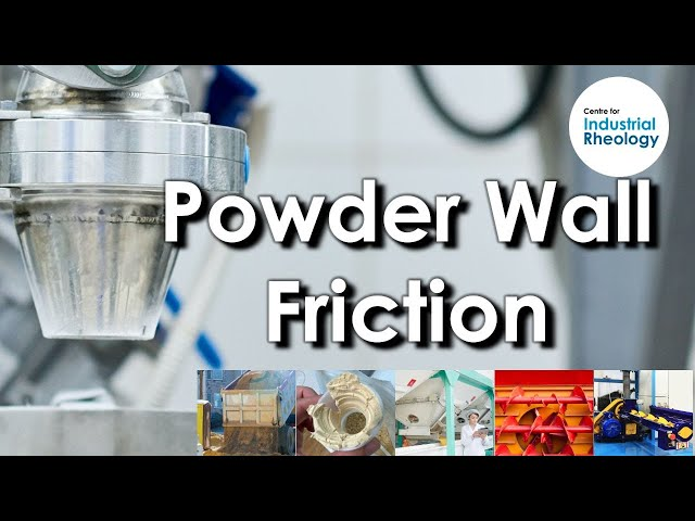 Powder Wall Friction - Powder friction against process surfaces