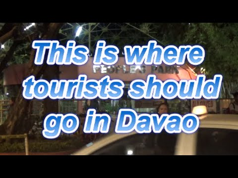 This is where tourists should go in Davao in Philippines