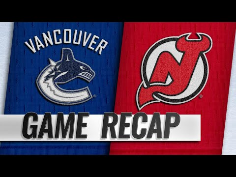 Blackwood, Devils shut out Canucks, 4-0