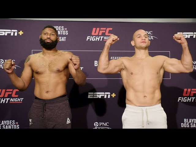 UFC Raleigh: Weigh-in Faceoffs