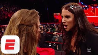 Ronda Rousey gets confrontational with Triple H and Stephanie McMahon at Elimination Chamber | ESPN