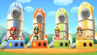 Mario Party 9: Step It Up - Cannon Ball Peach vs Daisy vs Mario vs Luigi Master Difficulty