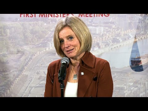 Alberta Premier Notley takes questions at first minister's meeting