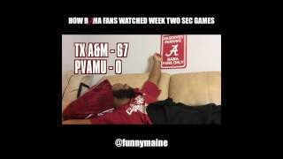 How Bama Fans Watched The Week Two SEC Games (2016)