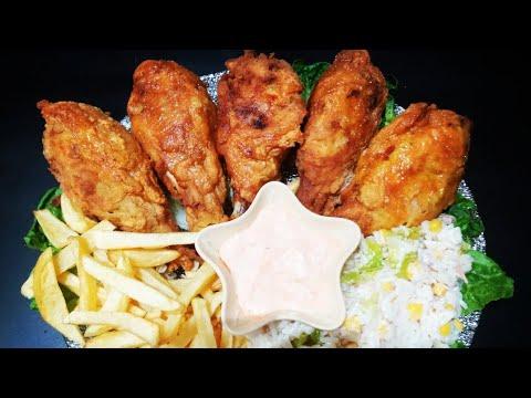 طريقة-تحضير-دجاج-كنتاكي-/و-سر-في-تتبيلة-ديالو-😋😋😋