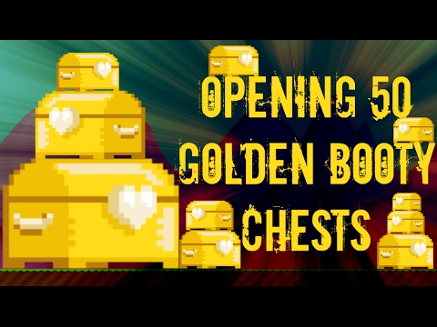 Growtopia | Opening 50 Golden Booty Chests! OMG!