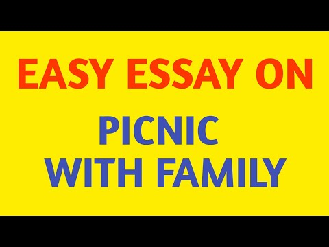 Easy Essay On A Picnic With Family || Picnic With Family Essay In English || A Picnic With Family