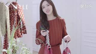 Đường Yên trong TVC độc quyền quảng cáo túi xách Bijou Drew của SuperELLE - Paris Fashion Week 2018