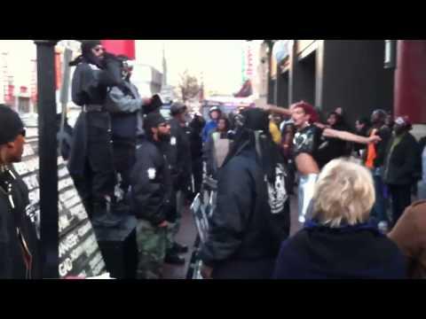 Brave gay dancer arrested in front of hate group, DC