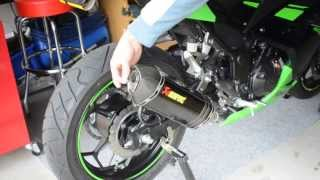 Ninja 300 Akrapovic Baffle Sound Test
