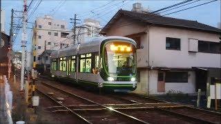 広島電鉄1000形1017号『GREENMOVERLEX』広電西広島〜東高須