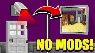 How to Make a WORKING SECURITY CAMERA in Minecraft! (NO MODS!)