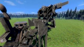 Medieval Engineers - Gatling Rapid Fire Catapult!