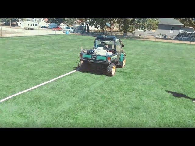 Newstripe LineRider™ UTV Skid Mounted Athletic Field Line Striper