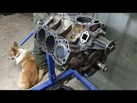 #Nissan#Terrano1#WD21#VG30 снимаем вскрываем мотор! шок! расход масла! часть 2