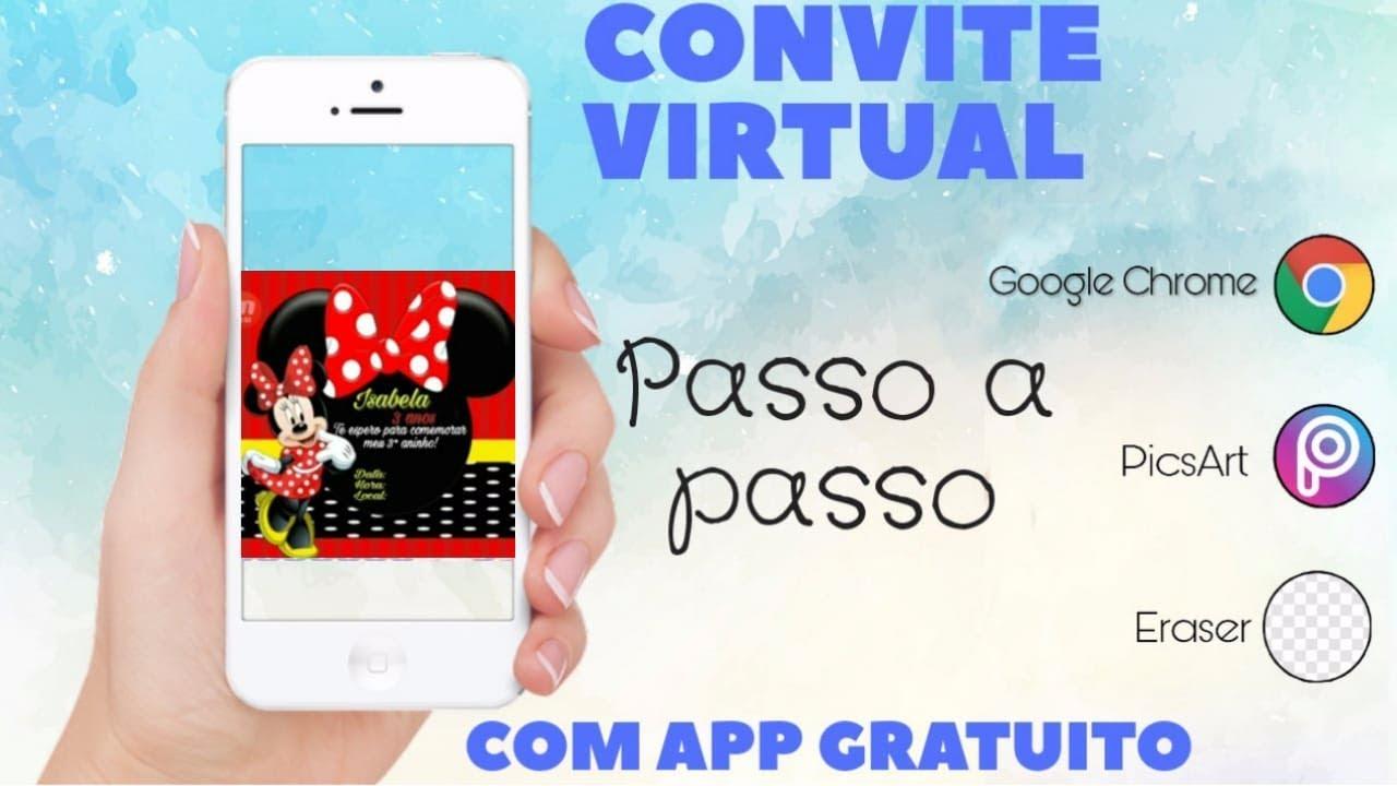 Convite Minnie Vermelha Feito Pelo Celular Youtube