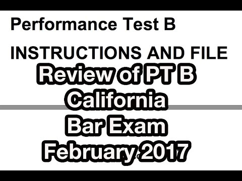 CA Bar Exam Review Performance  Test B Feb 2017