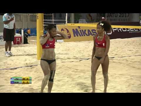 Pacific Mini Games Van2017 Beach Volleyball Women Fiji vs Guam