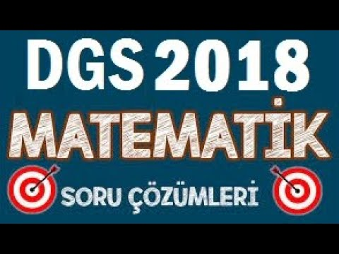 DGS 2018 Matematik Soruları Çözümleri 1