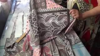 #563.Раскрой платья из мокрого трикотажа/масло